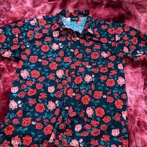 Rose design button up